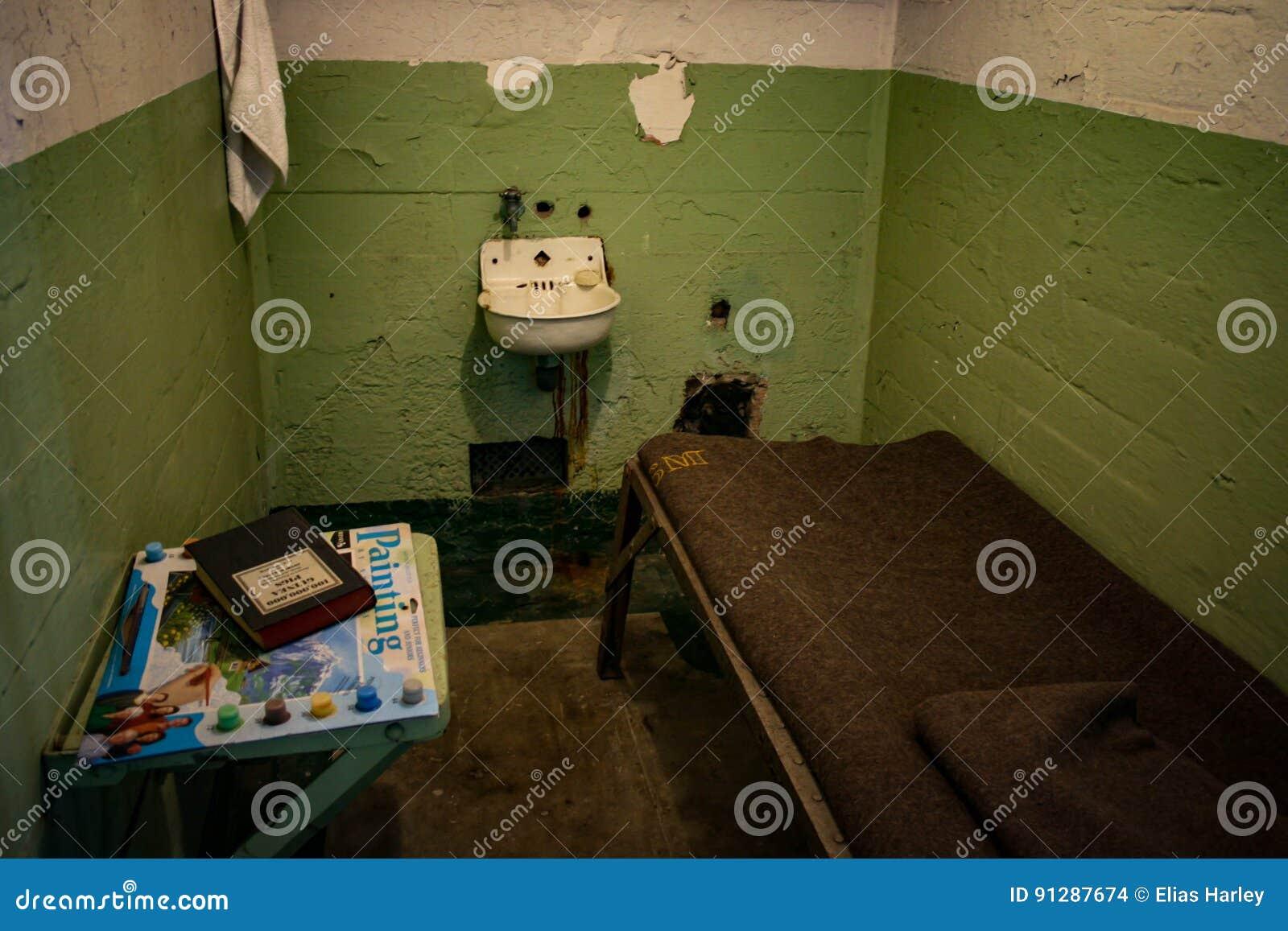 Alcatraz Gefängnis Zelle Regulationen Bild Plakat Kunst Gerahmter Druck