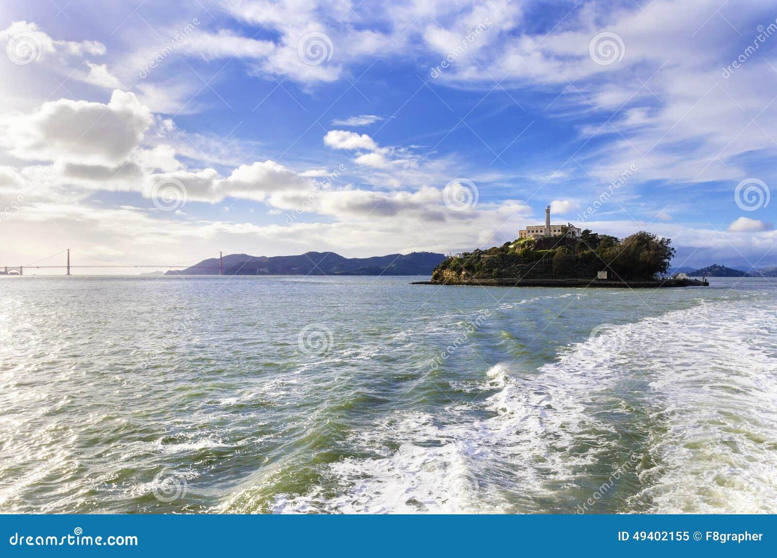 Download Alcatraz Insel, San Francisco, Kalifornien Stockbild - Bild von anziehung, brücke: 49402155