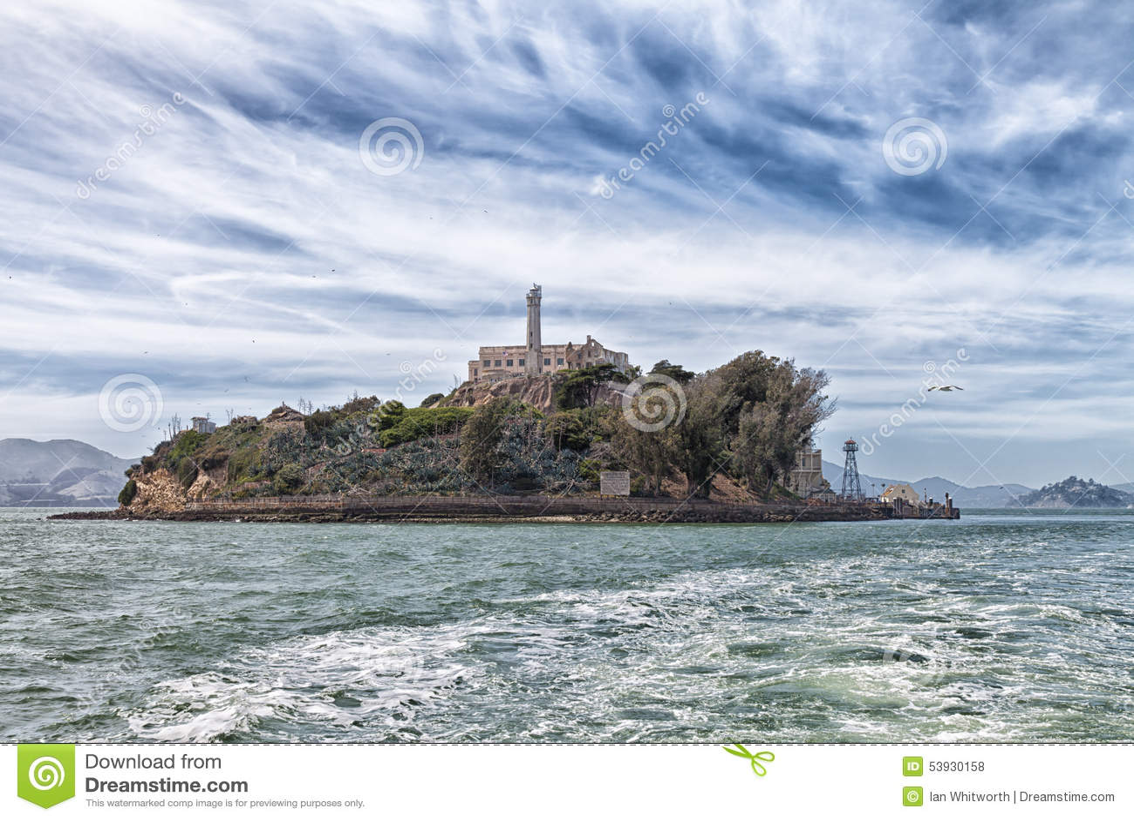 Alcatraz-Insel vom Wasser