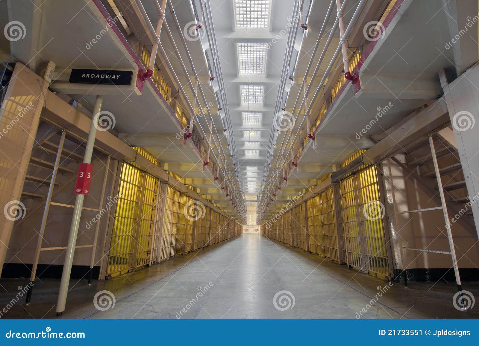 Alcatraz Island Prison Broadway Cell Block