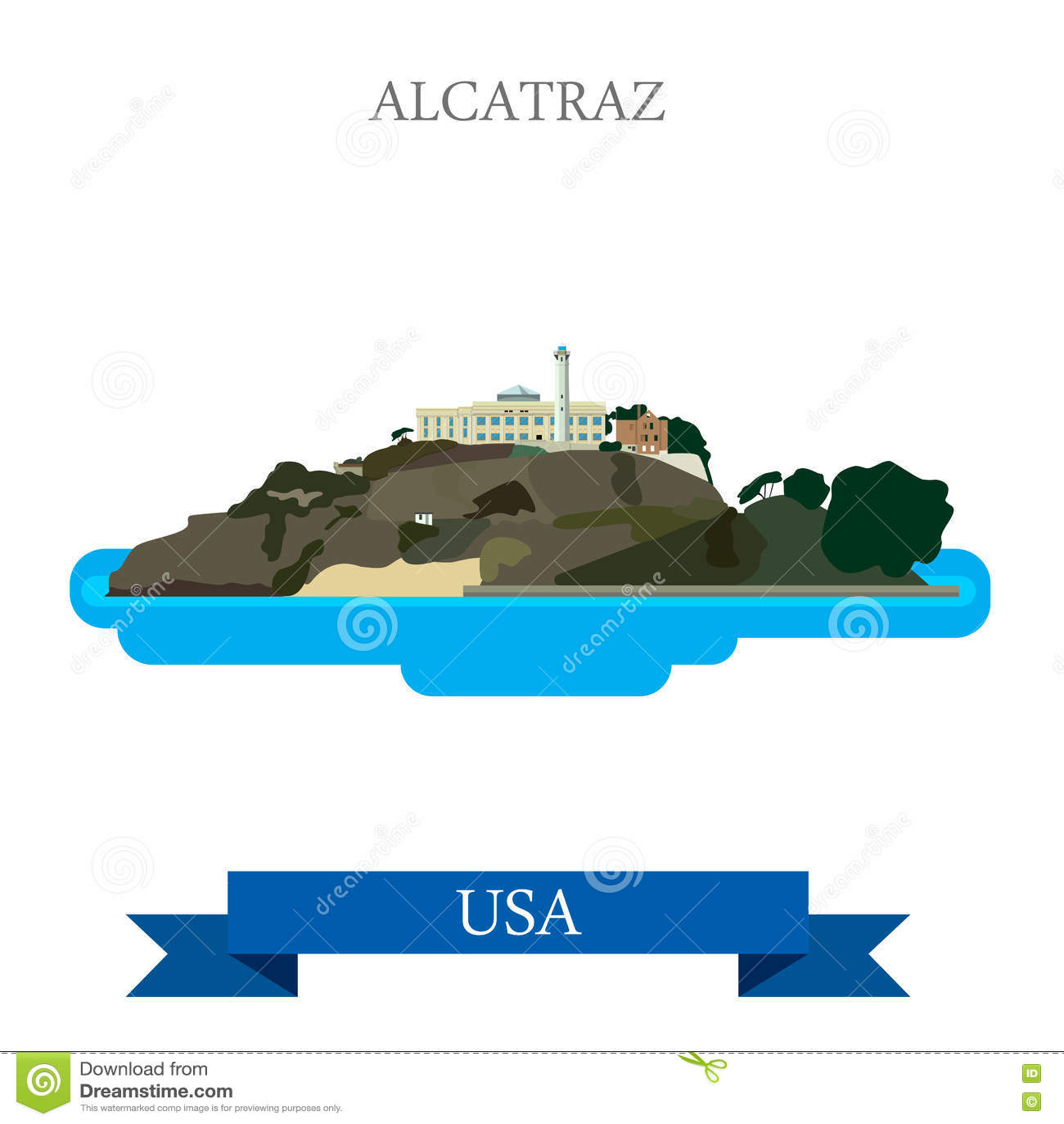 NEW World Travel POSTER Alcatraz Island