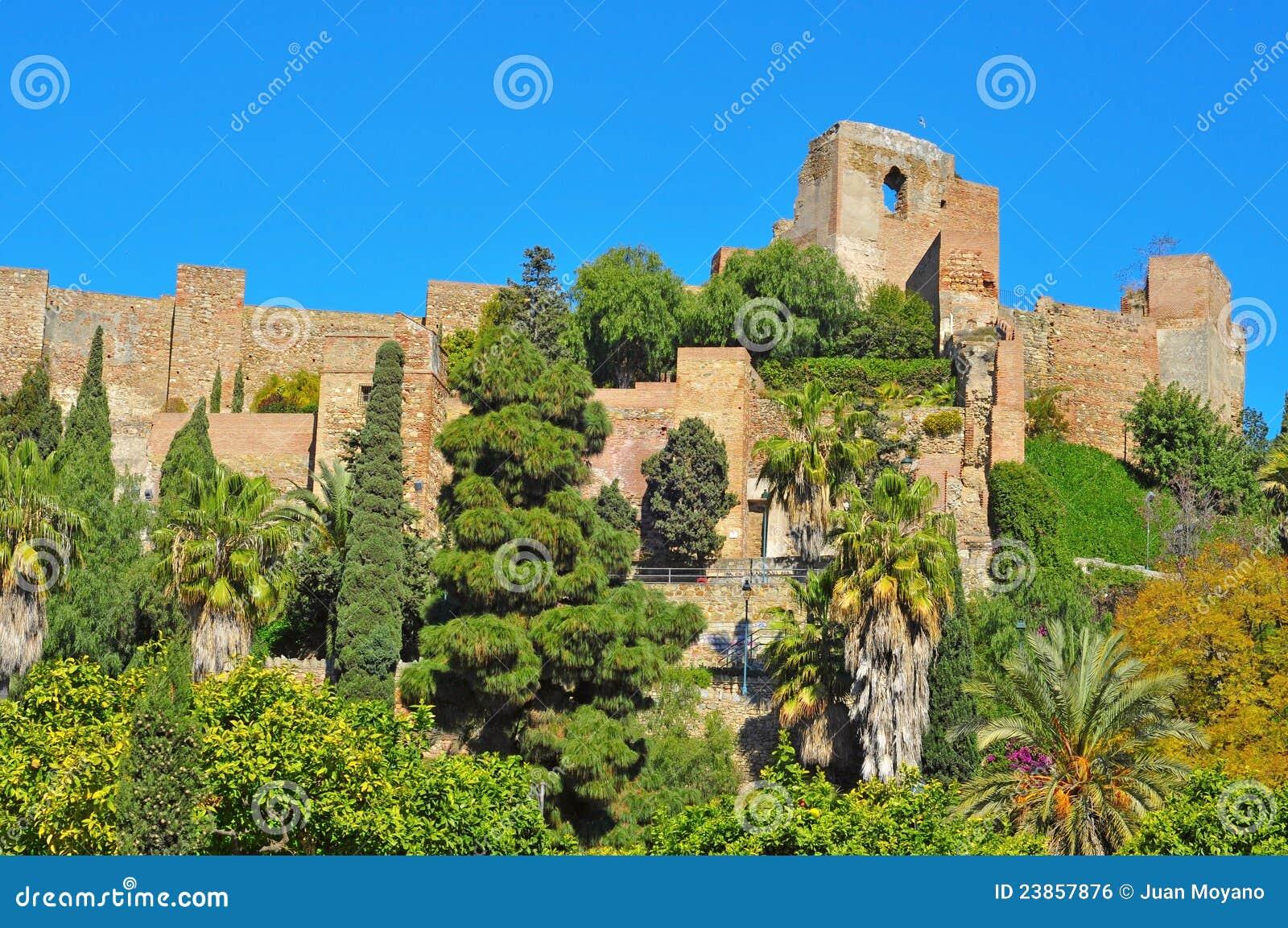 Alcazaba van Malaga, in Malaga, Spanje