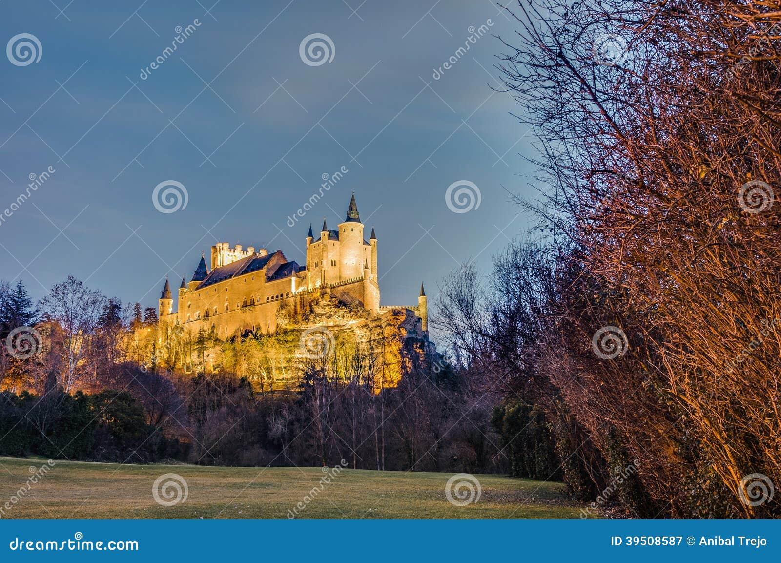Alcazar de Segovia no Castile e no Leon, Espanha