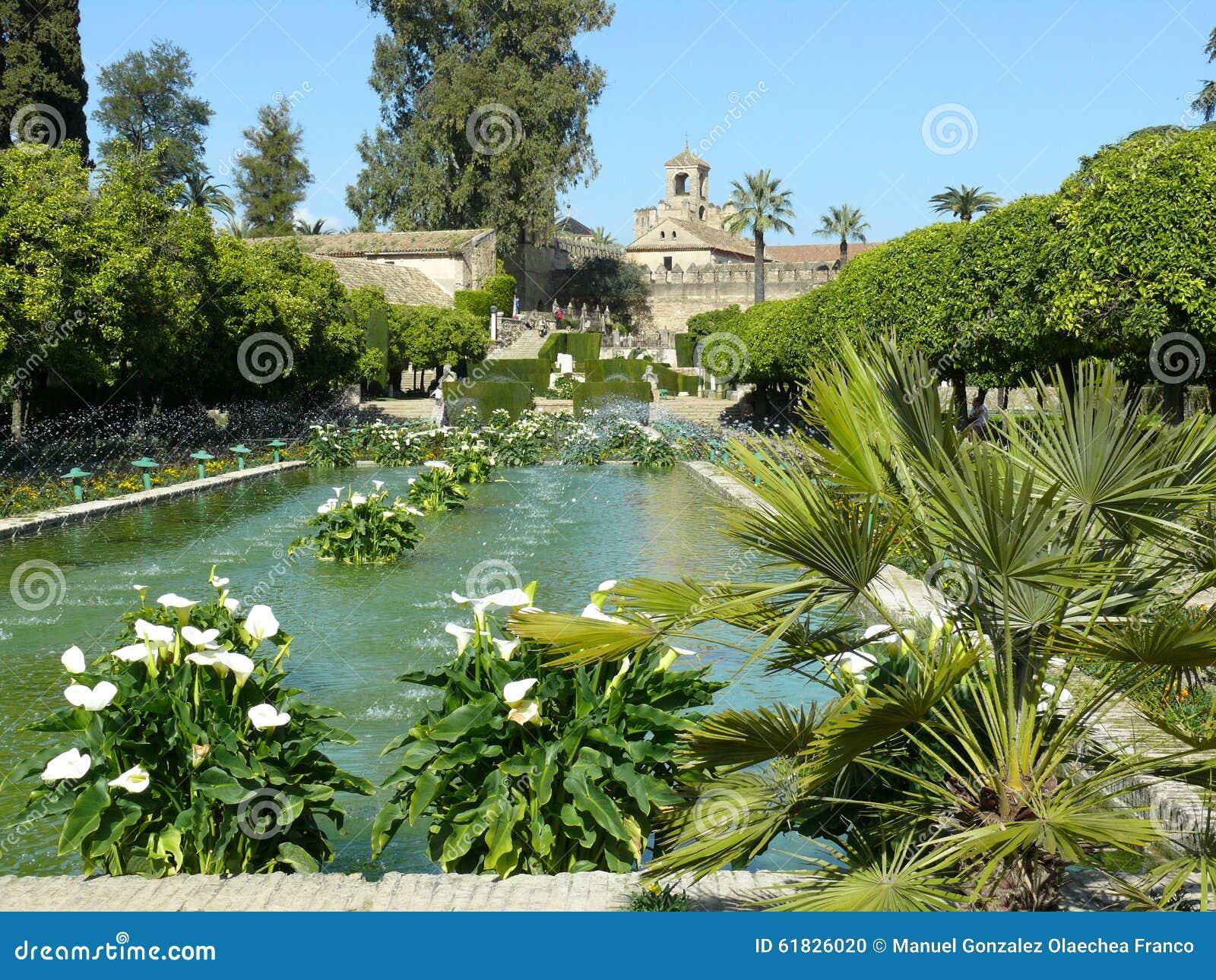 Alcazar gardens in cordoba spain editorial image image for Ornamental pond plants