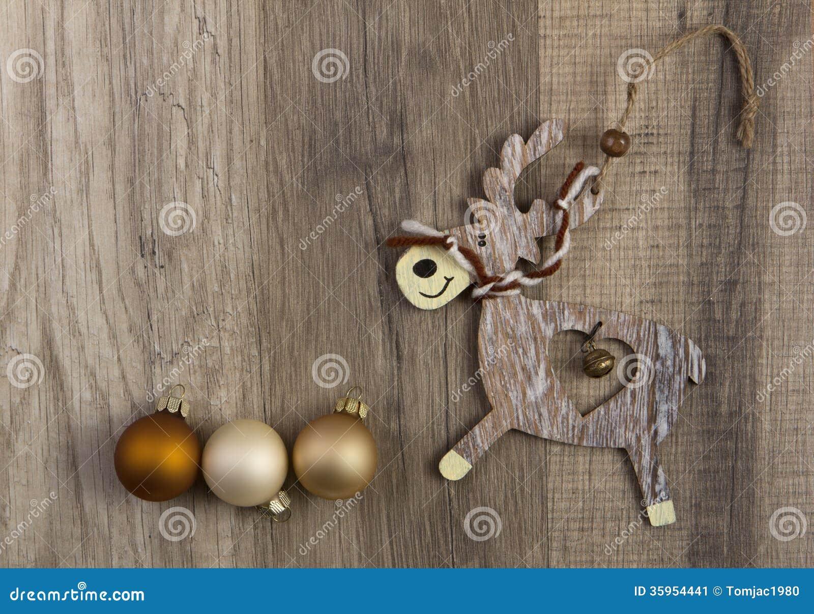 Alces como decoración de la Navidad
