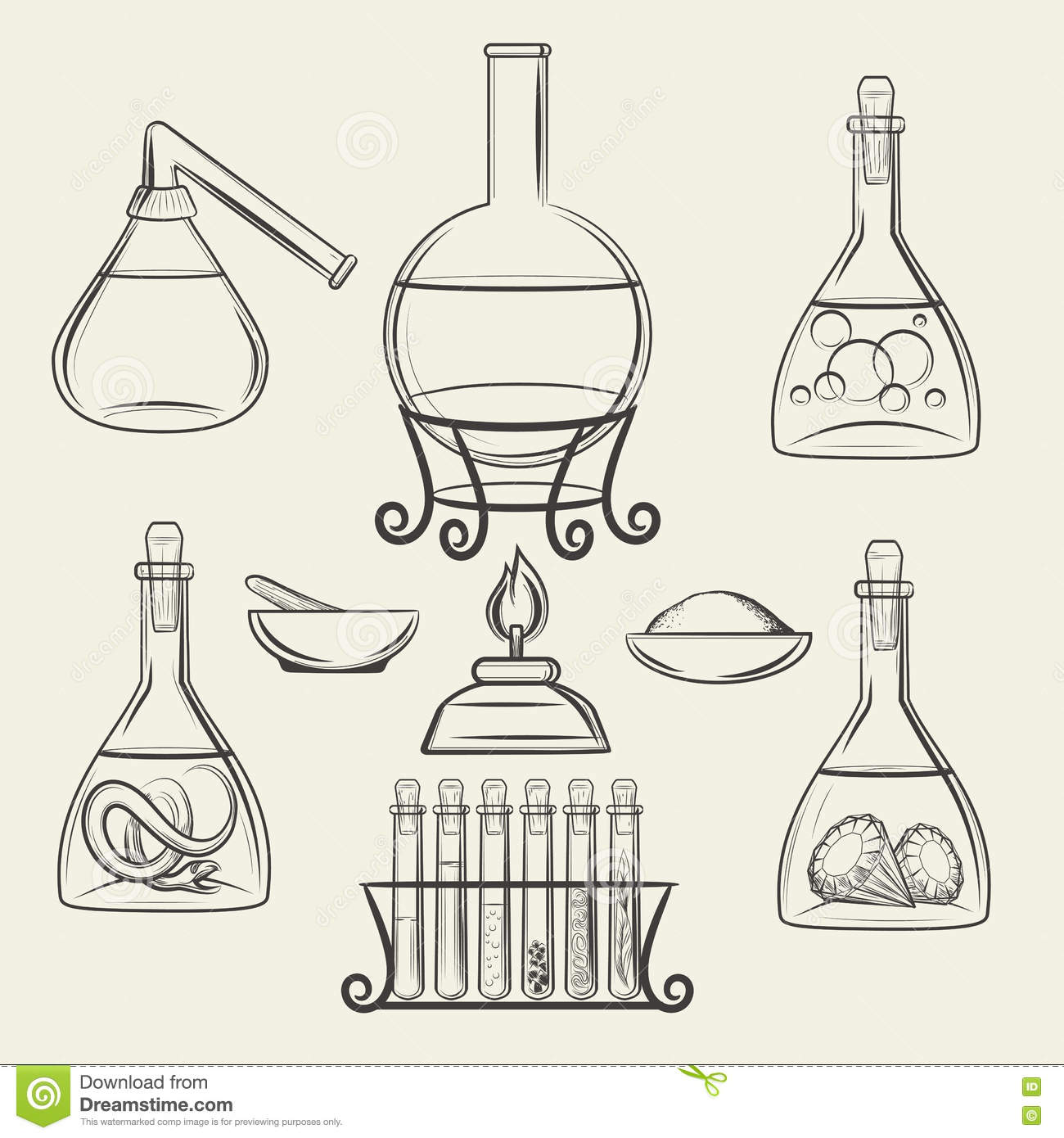 Alchemical vessels or vintage lab equipment