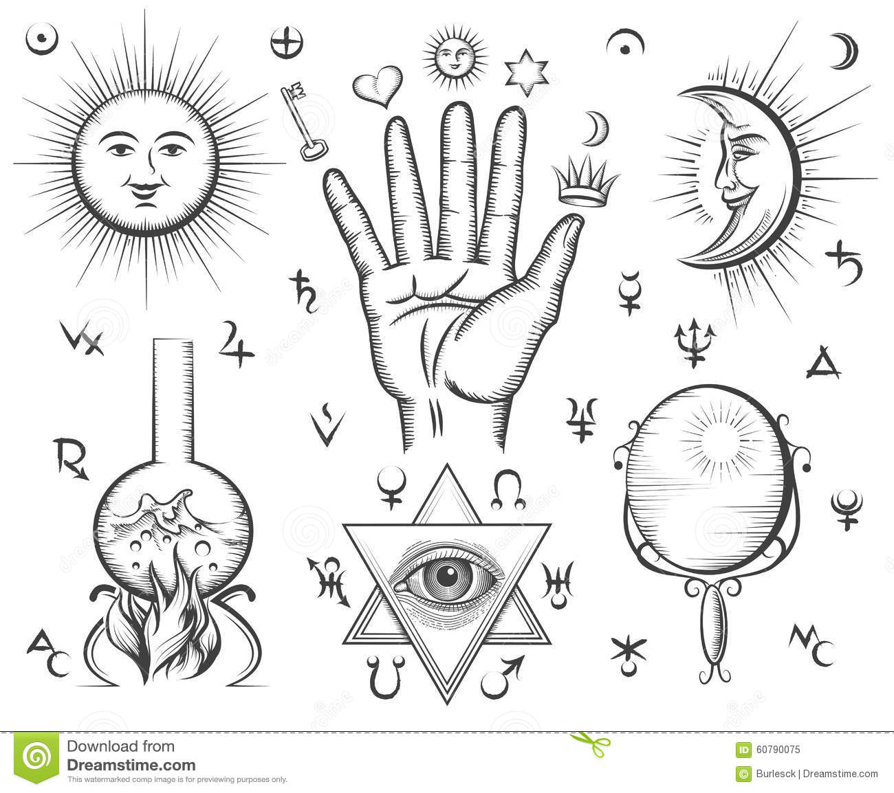 Alchemy spirituality occultism chemistry magic stock vector royalty free vector biocorpaavc