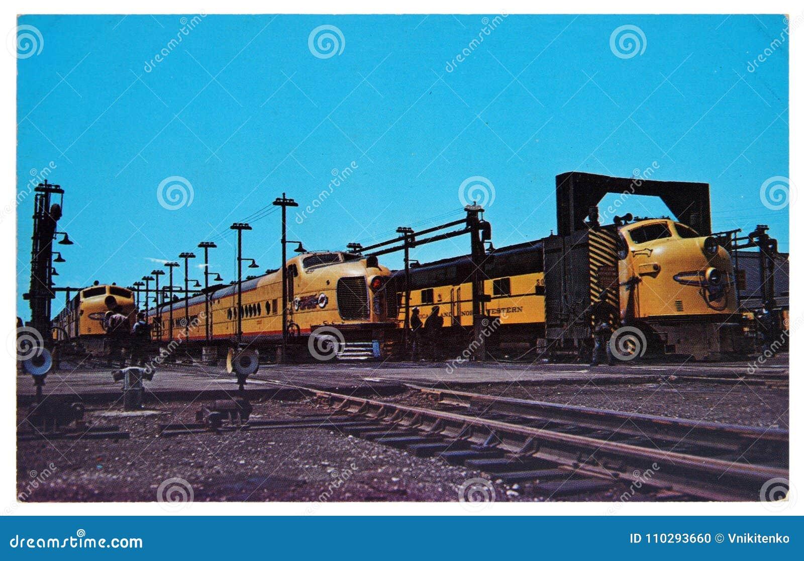 Alco Fa 1 Diesel Locomotives Editorial Image Image Of Production
