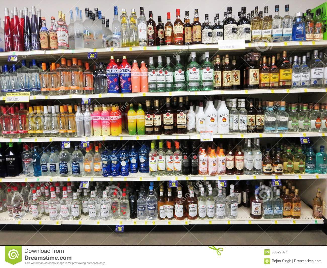 Alcohol Bottles Editorial Photo Image 60627371