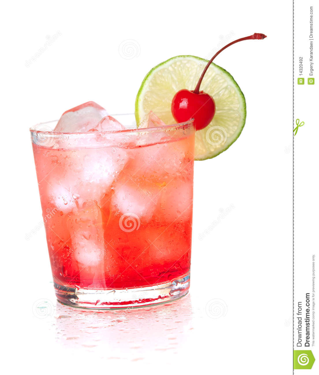 Alcohol Cocktail With Maraschino And Lime Stock Photography - Image ...