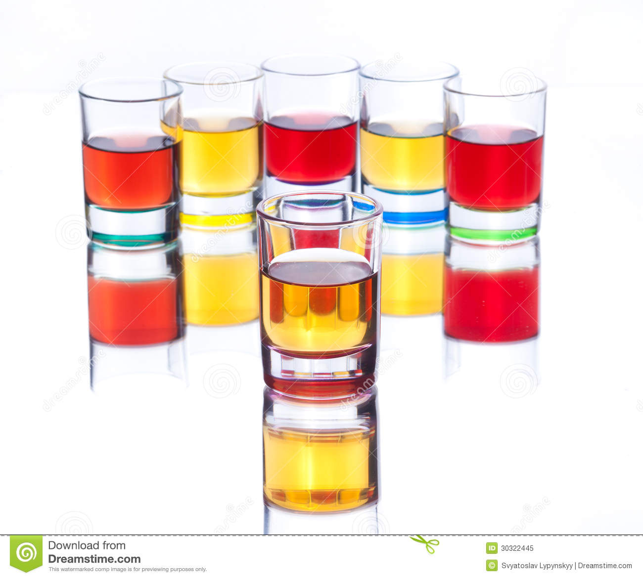 Alcohol Drinks On White Background Royalty Free Stock