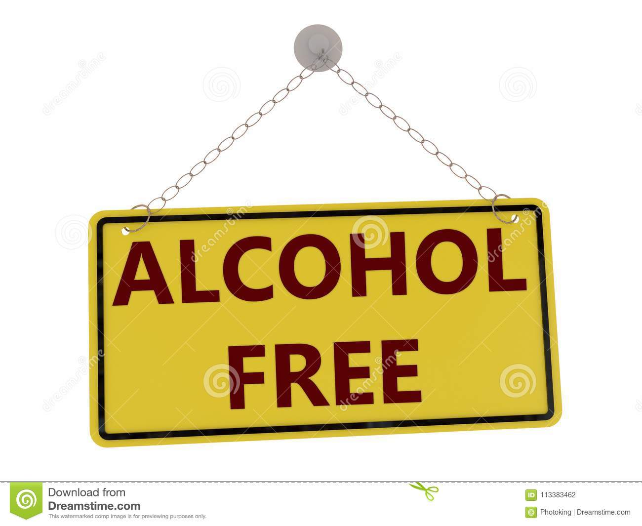 Alcohol free sign
