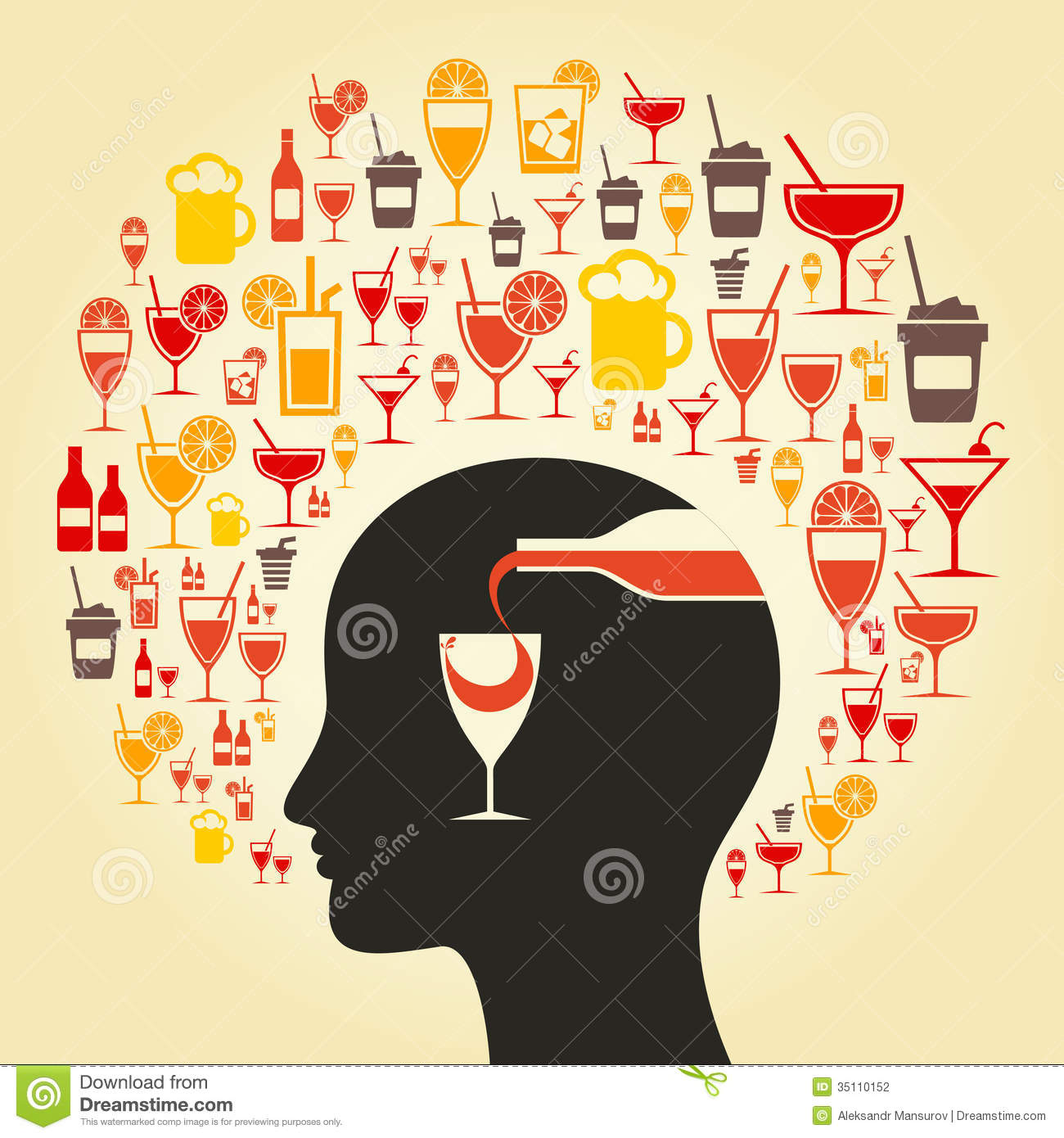 alcohol a head stock photography   image 35110152