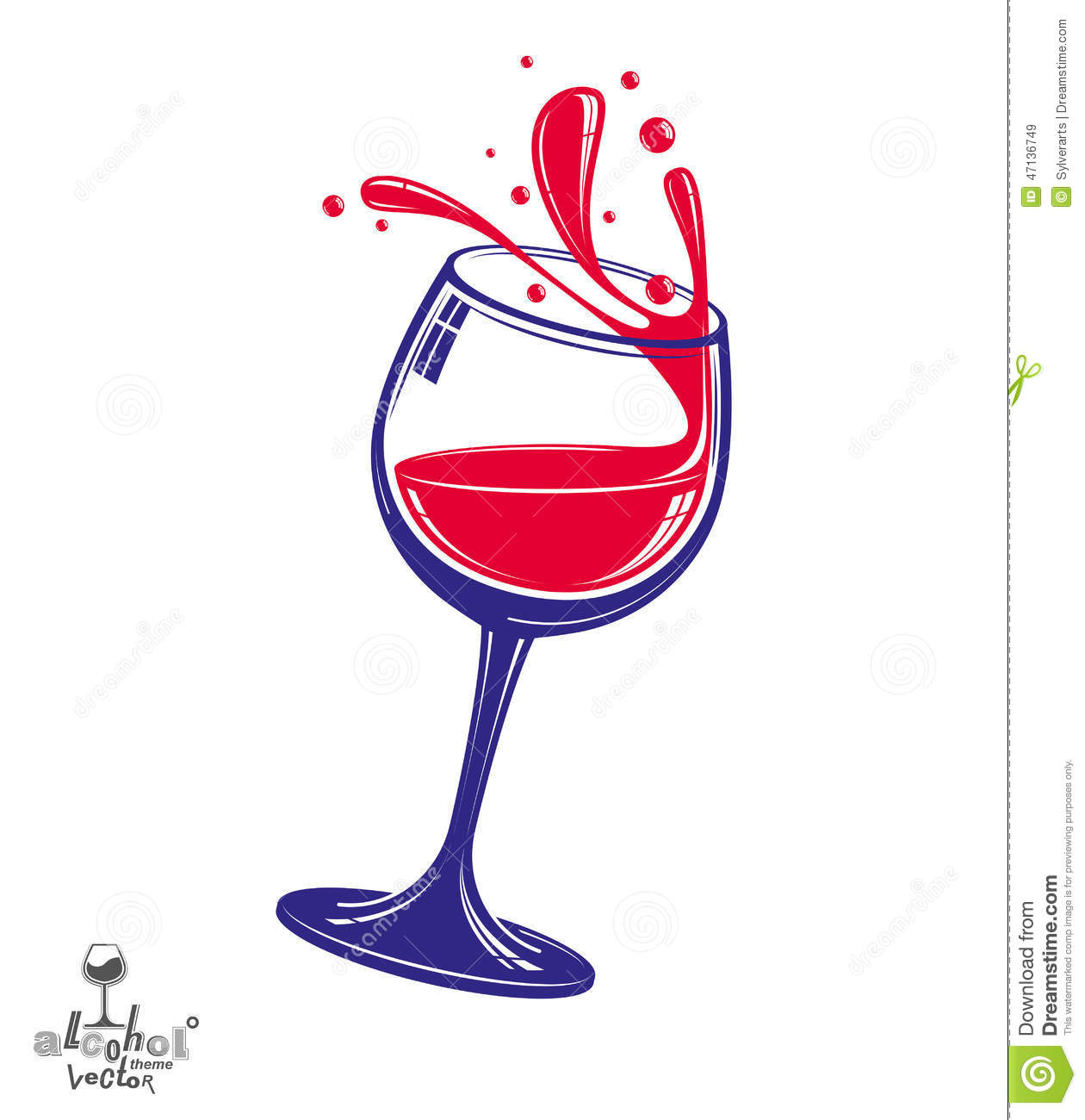alcohol theme vector art illustration 3d realistic wine goblet stock vector image 47136749 couch potato clipart free Oversized Couch Potato