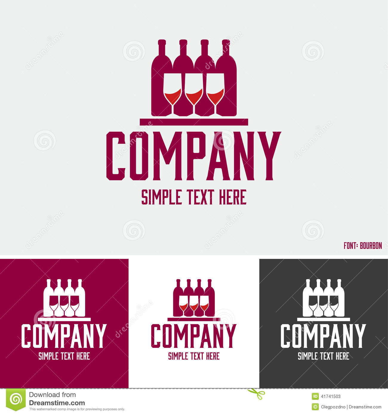 alcoholic beverages logo stock vector image 41741503