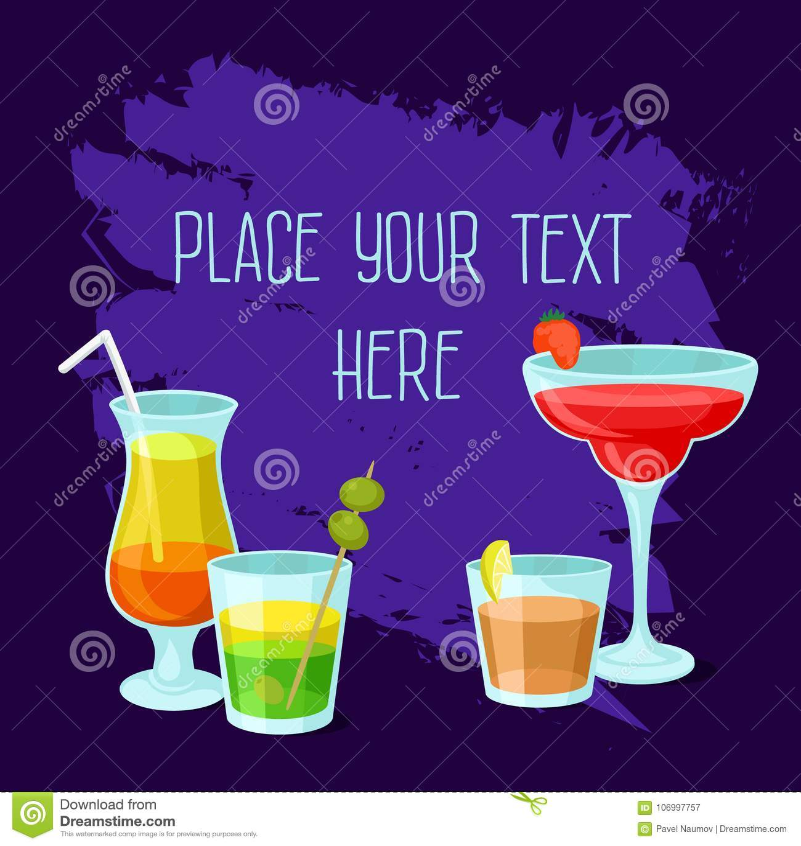 Party Time Cocktail Mocktail Drink Banner