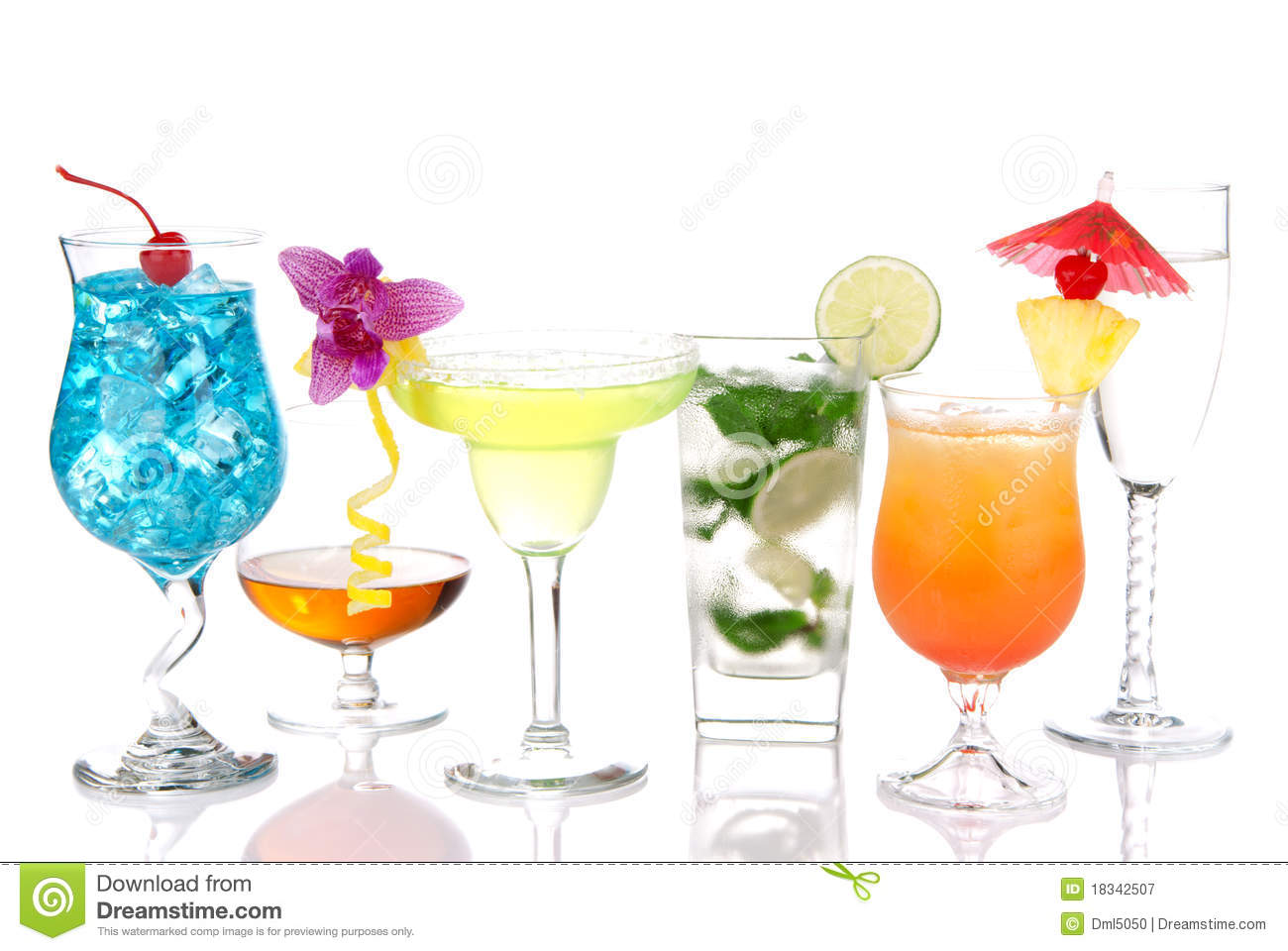 Alcoholic cocktails margarita martini mojito royalty free for List of alcoholic mixed drinks