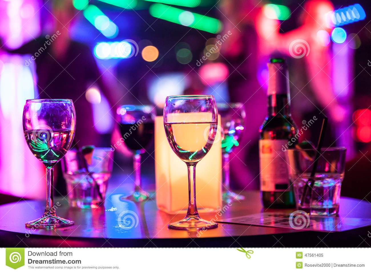 Alcoholic drinks on the table