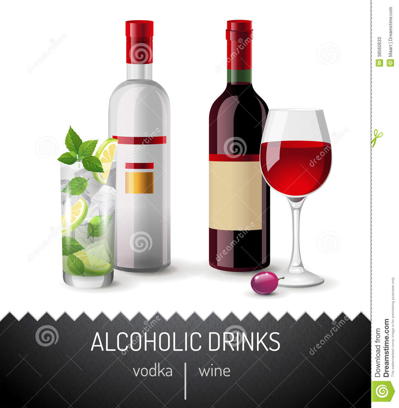 Alcoholic drinks stock photos image 38560633 for Mix drinks with wine