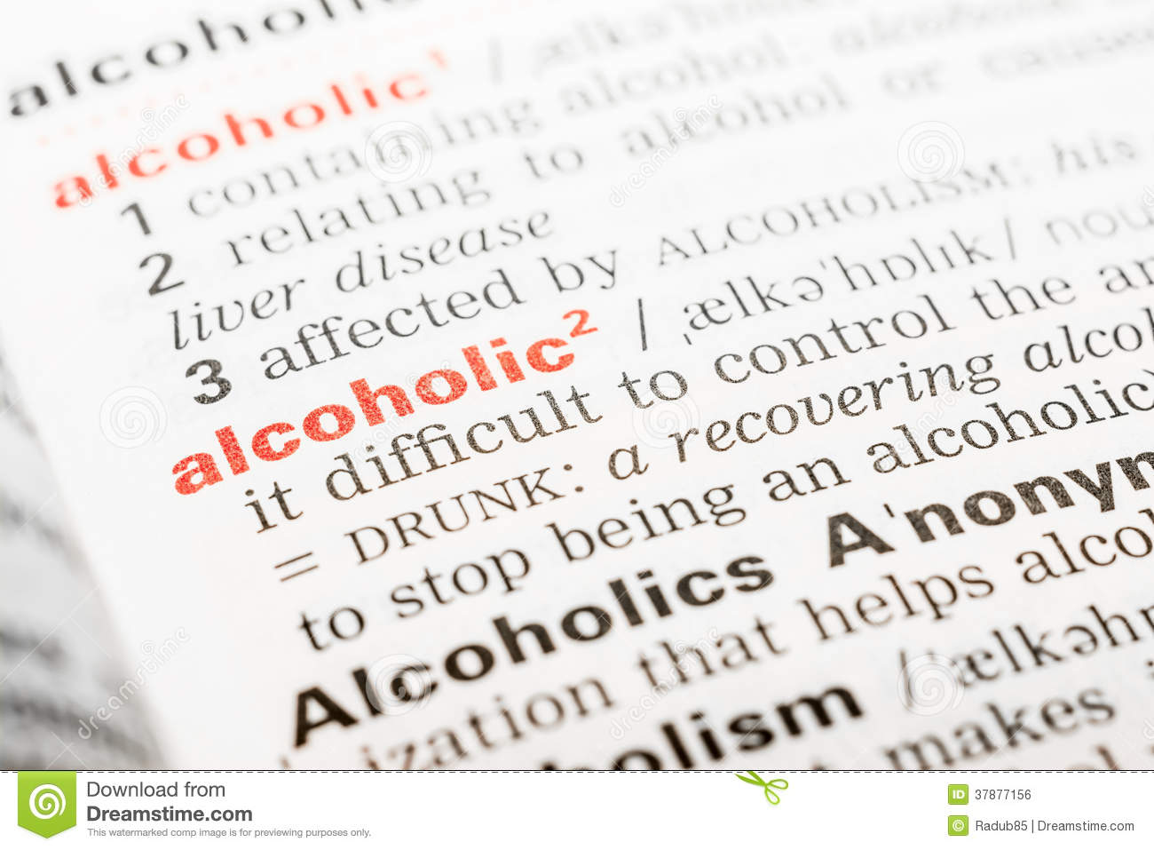 alcoholic word definition stock photo. image of drunk - 37877156