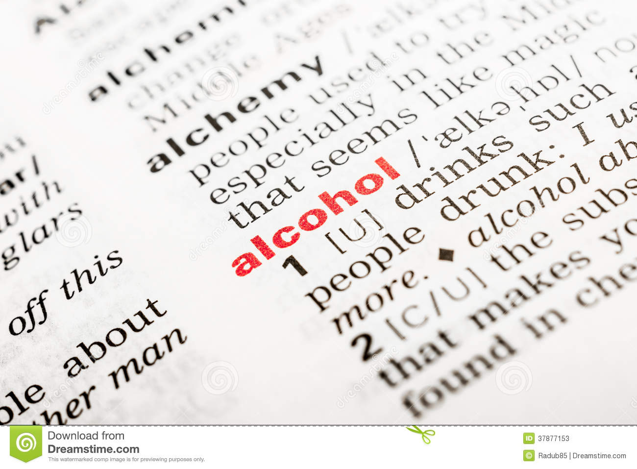 Alcoholword Definitie