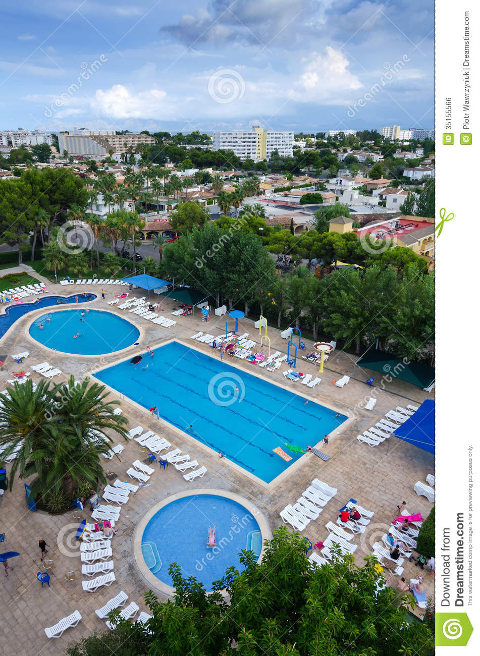 Alcudia Tourist Resort - Aerial View Editorial Photo - Image: 35155566
