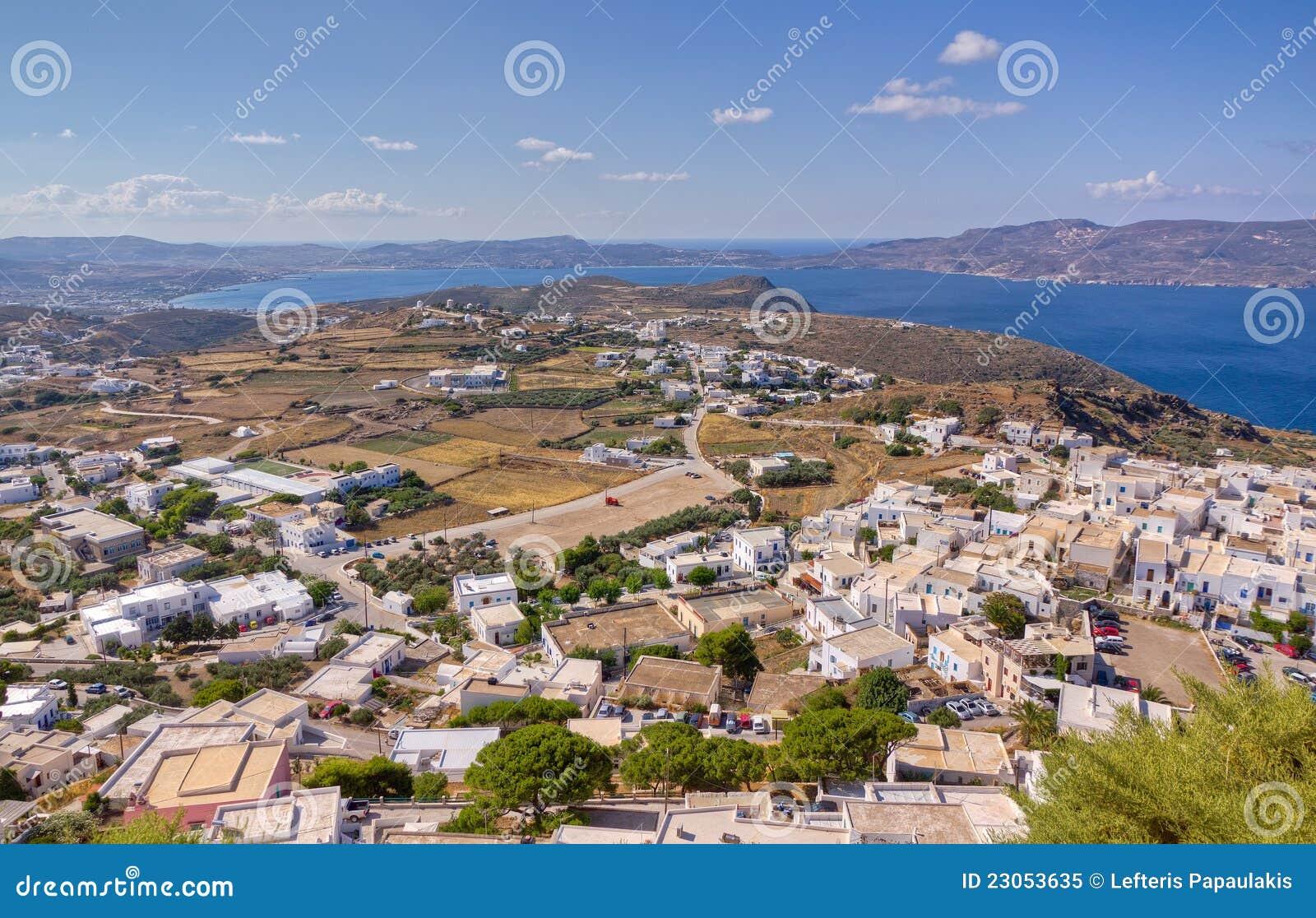 Aldea de Plaka y de Trypiti, Milos isla, Grecia