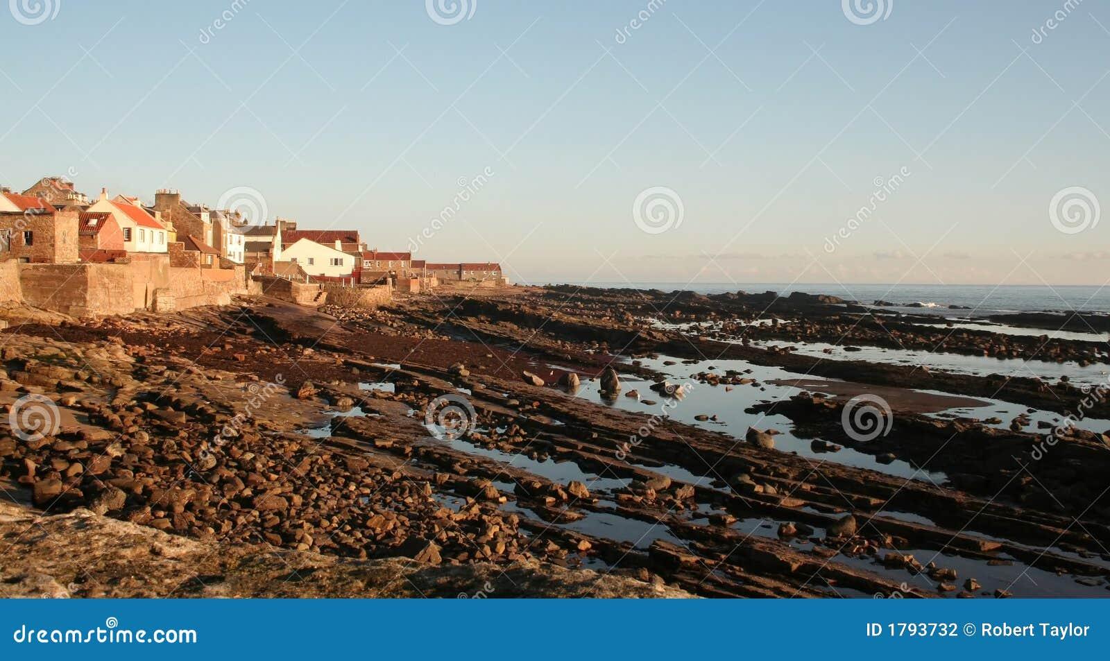 Aldea de playa escocesa