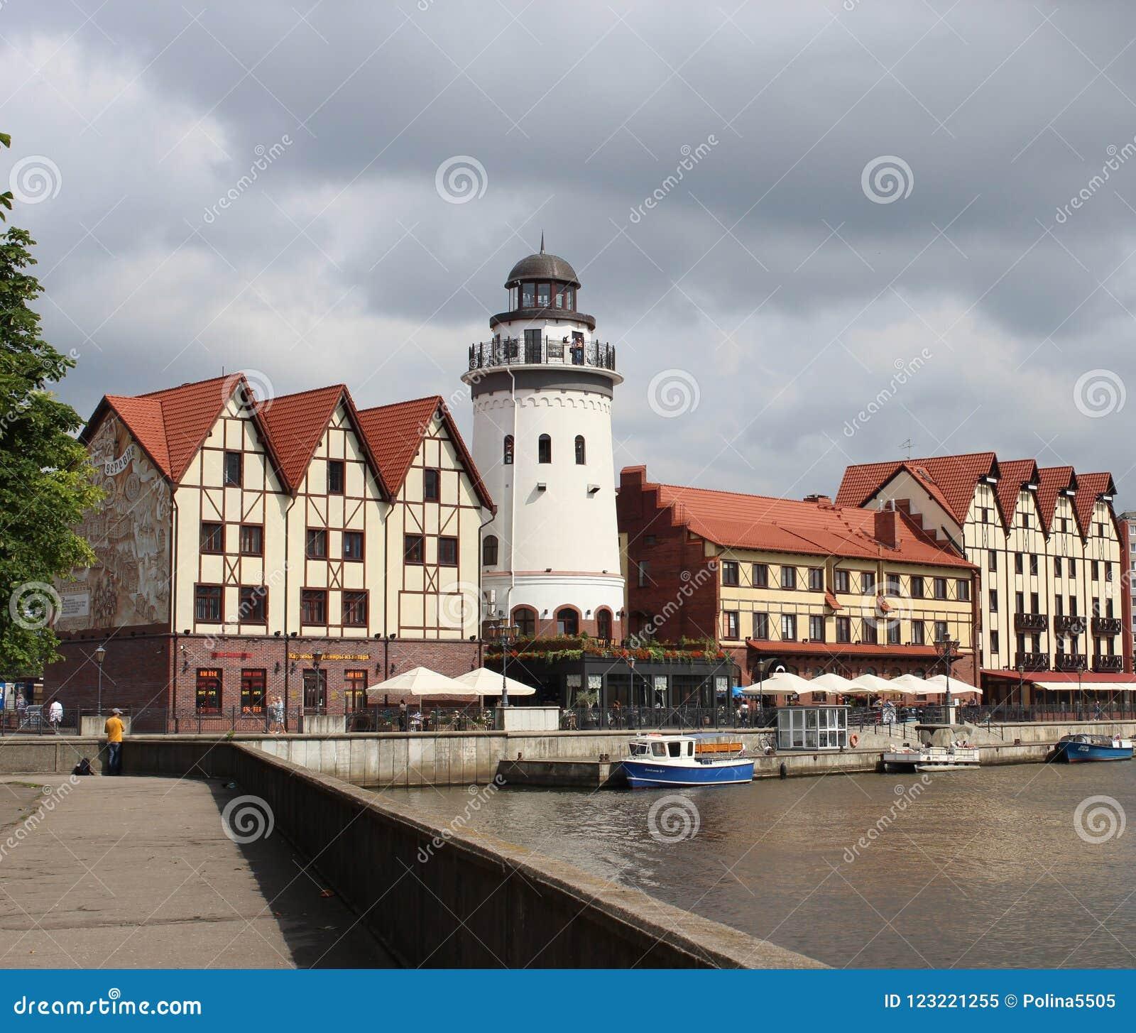 A aldeia piscatória em Kaliningrad