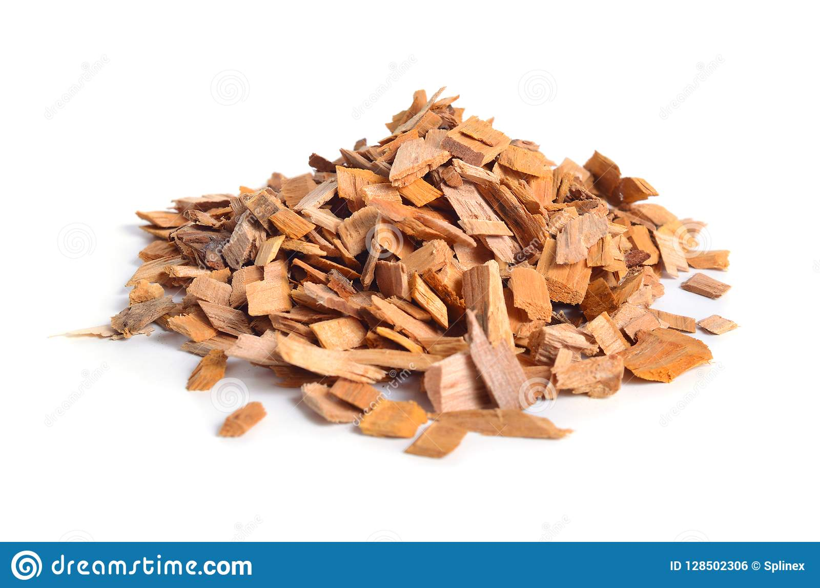 Alder Wood Chips Isolated On White Background Stock Photo Image Of