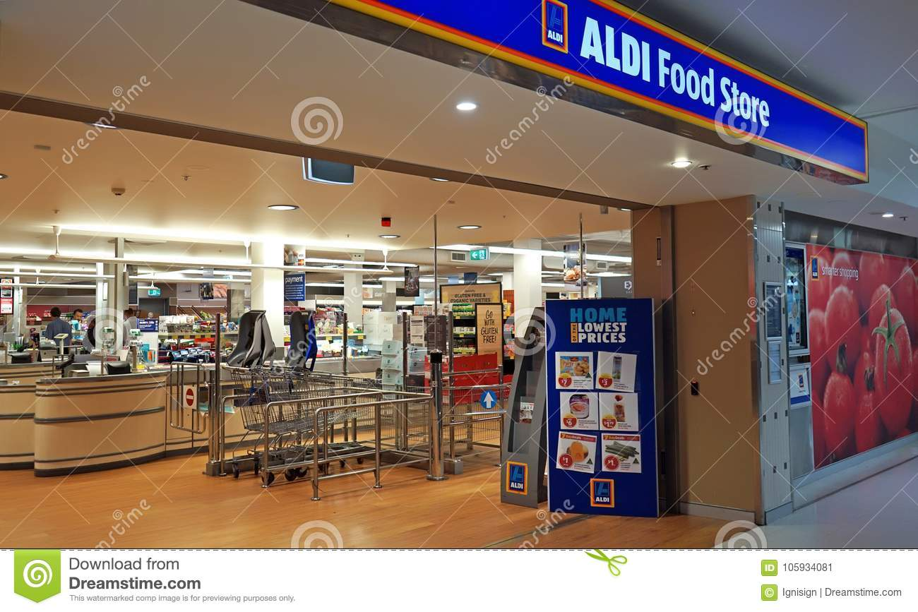 german aldi food chain opens on maundy thursday editorial. Black Bedroom Furniture Sets. Home Design Ideas