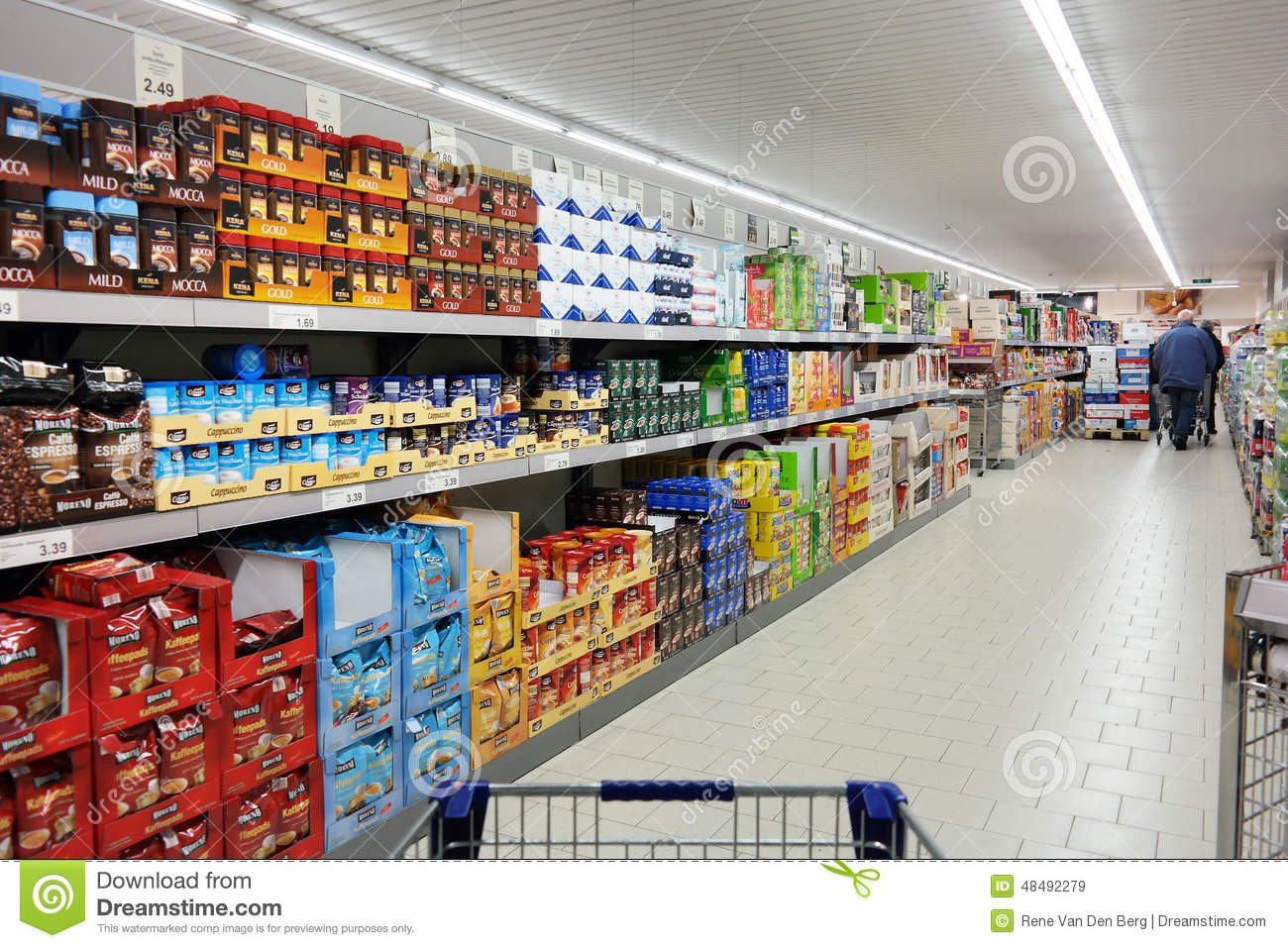 Aldi stock photos royalty free pictures aldi supermarket germany december 2014 shelves with a variety of coffee products in biocorpaavc