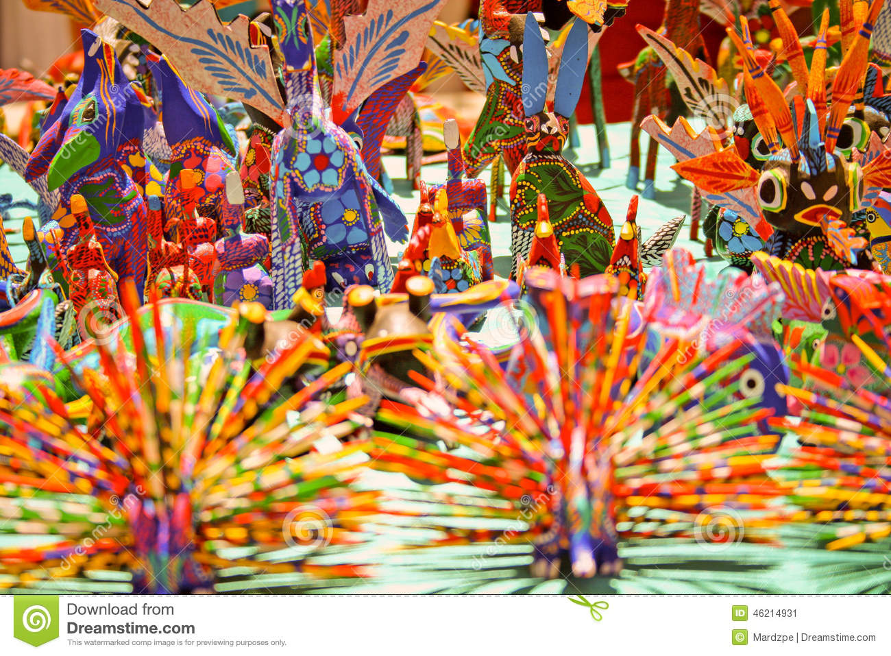 Alebrijes, typical Mexican crafts from Oaxaca