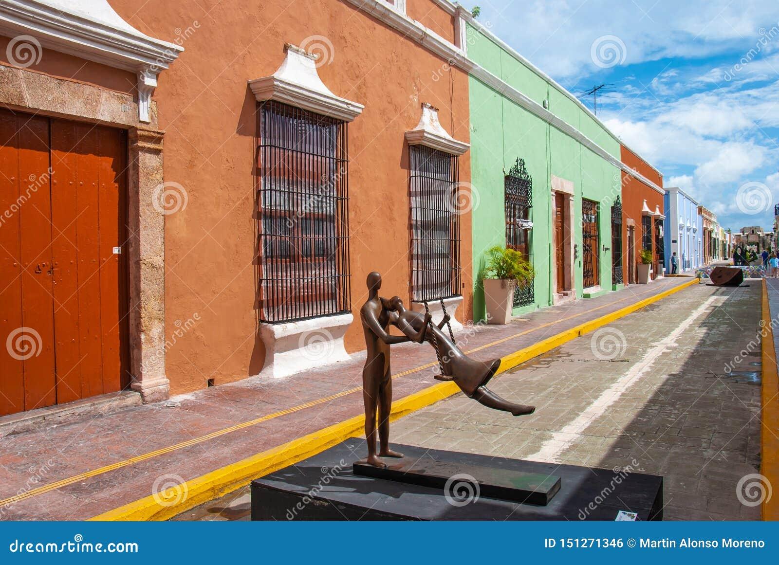 Aleia do centro histórico de Campeche México