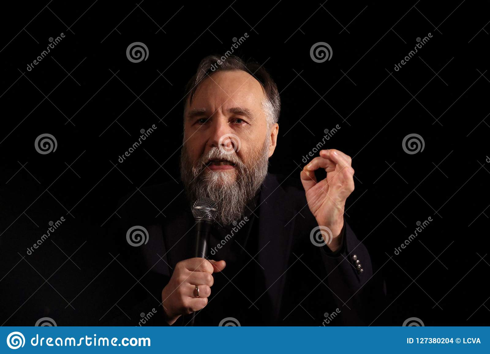 Aleksandr Dugin, Russian political analyst - press conference in