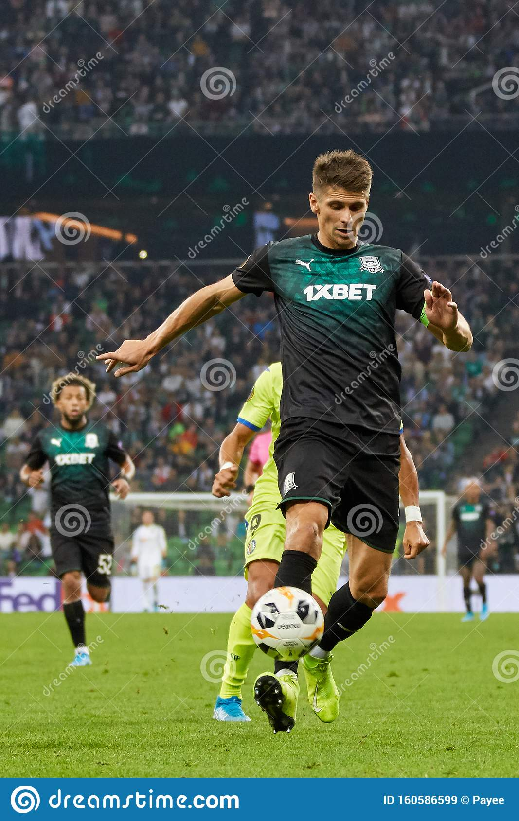Aleksandr Martynovich Of Fc Krasnodar In Action Editorial Stock Image Image Of League Match 160586599