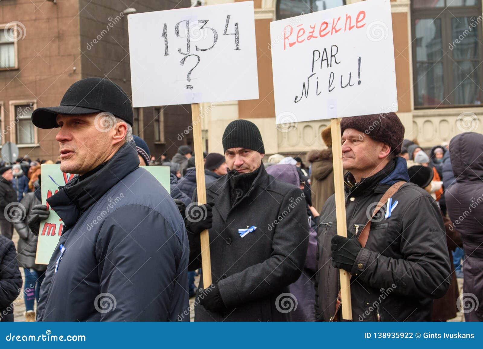 Aleksandrs Bartasevics Mayor of Rezekne city. `Support` meeting, expressing support for Nils Usakovs, Mayor of Riga city council,