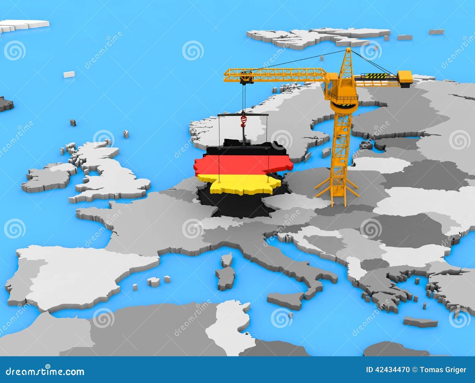 Alemania en una grúa