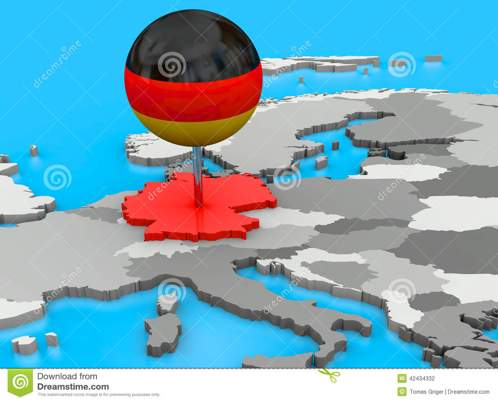 Alemania fijó al mapa de Europa