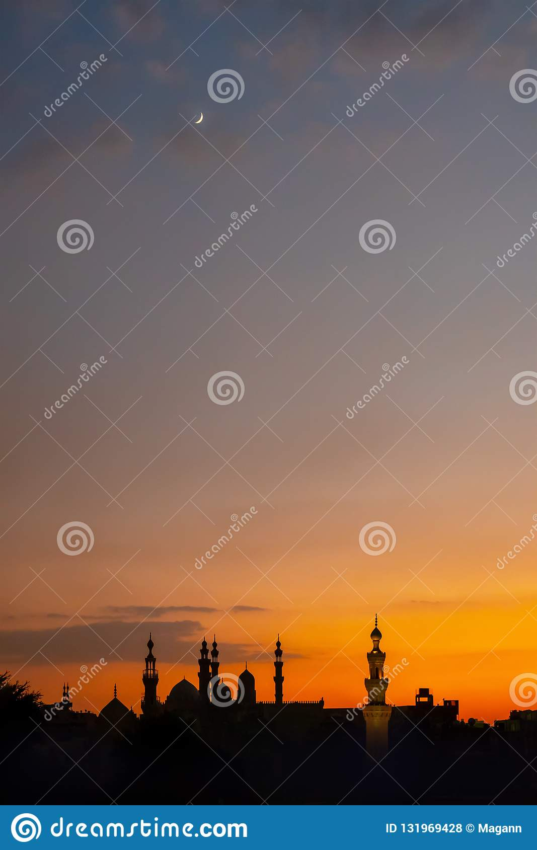 Alen-Rifa 'I och Sultan Hassan för två moskéer i Kairo Egypten på su