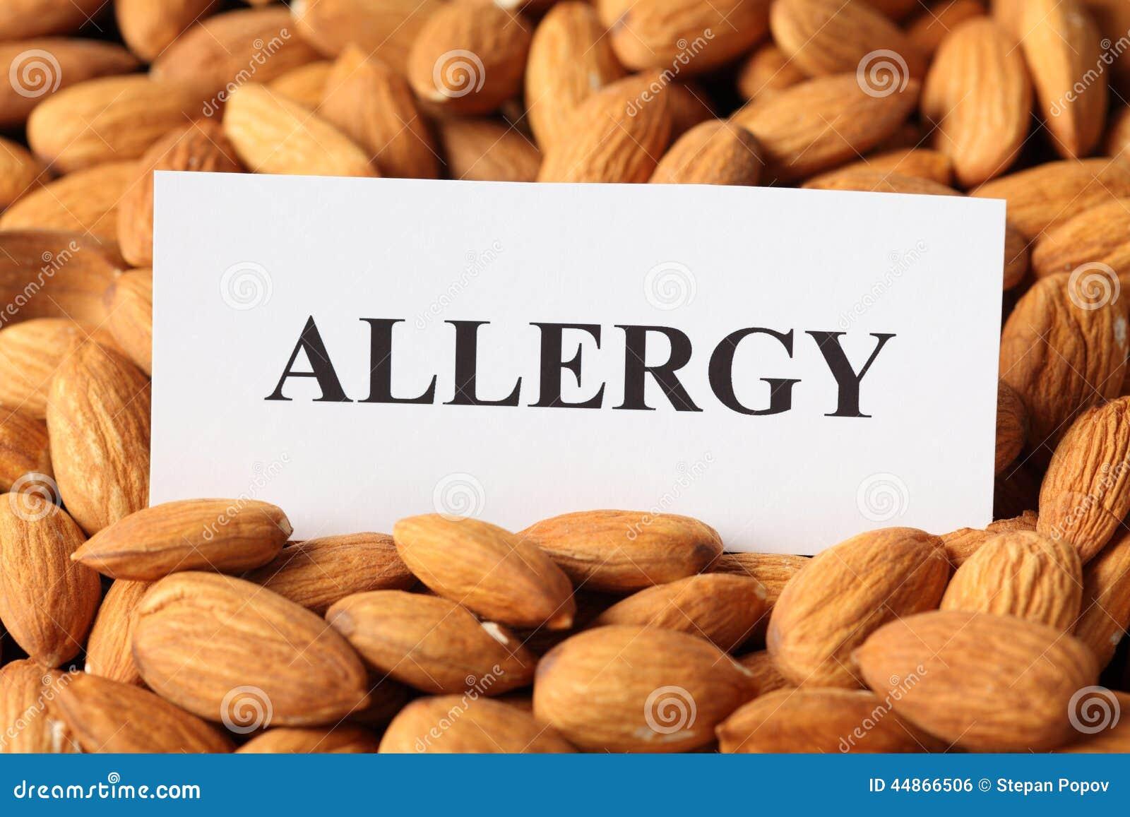 Almendras alergia a las