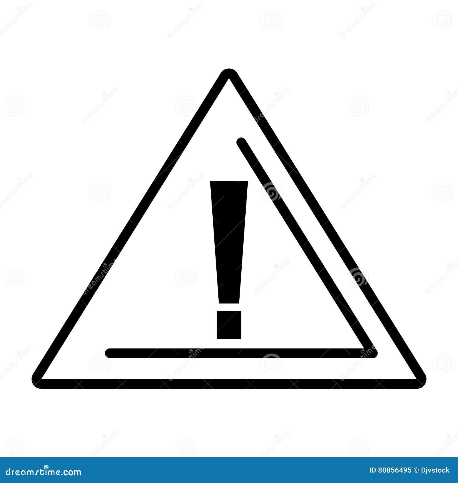 Alert Symbol Traffic Signal Stock Vector Illustration Of Element