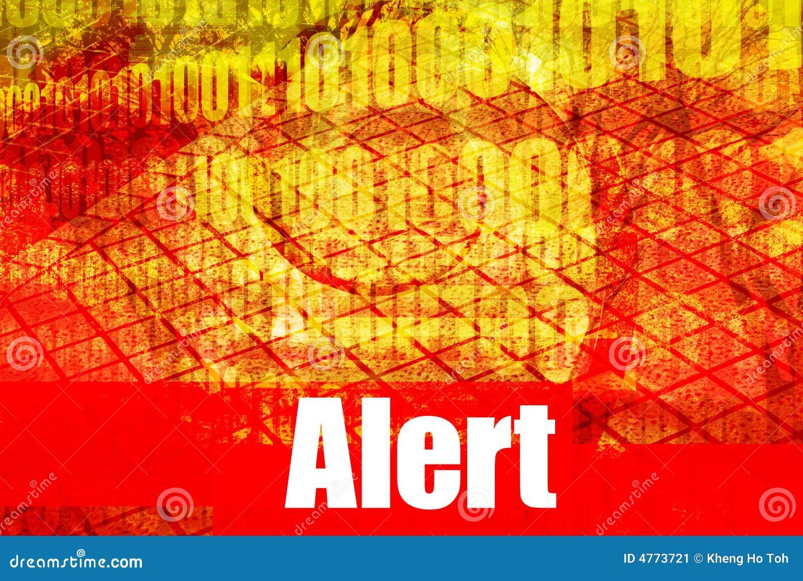 alert warning system message stock image   image 4773721