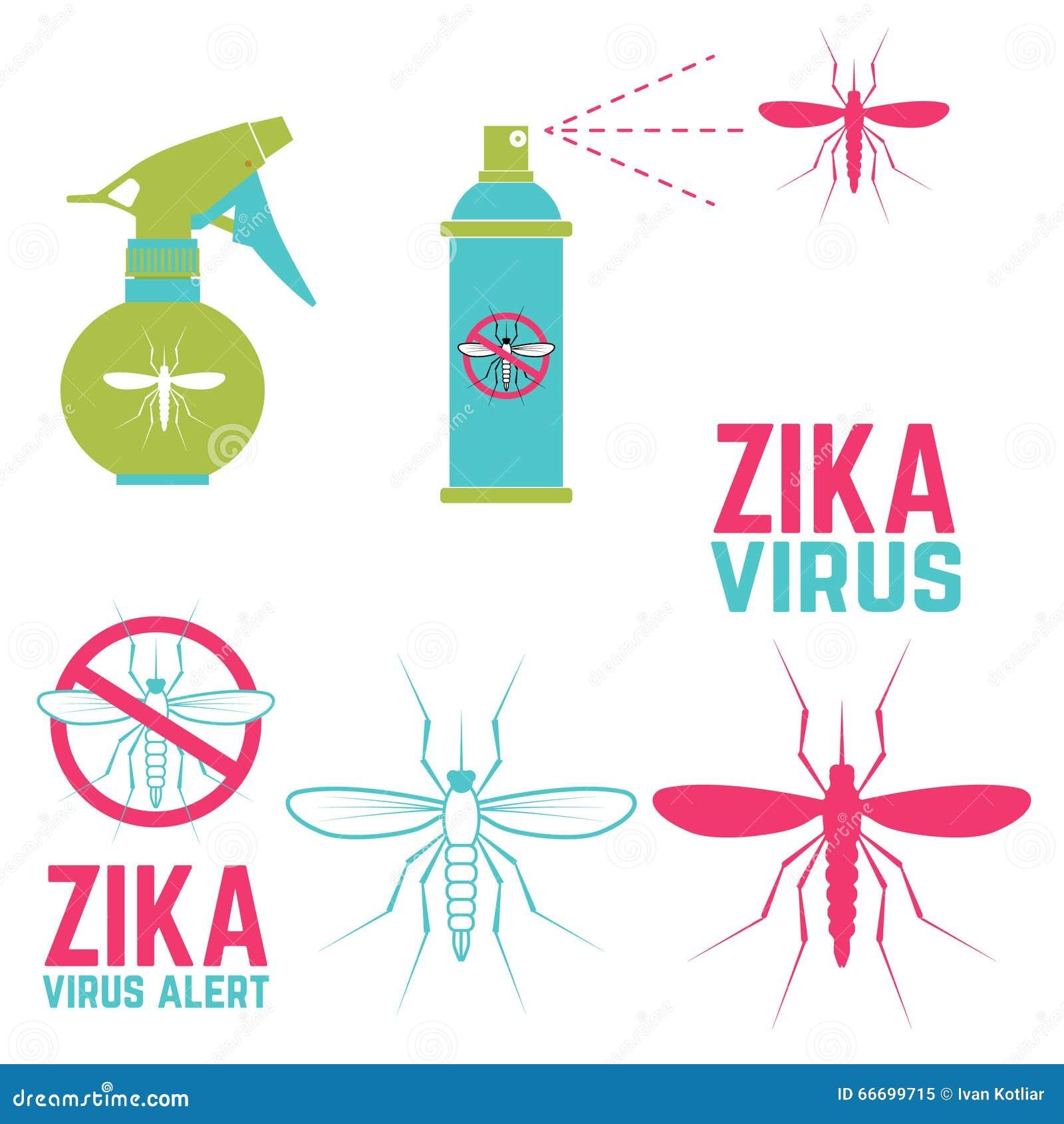 Alerta do vírus de Zika Jogo de elementos do projeto