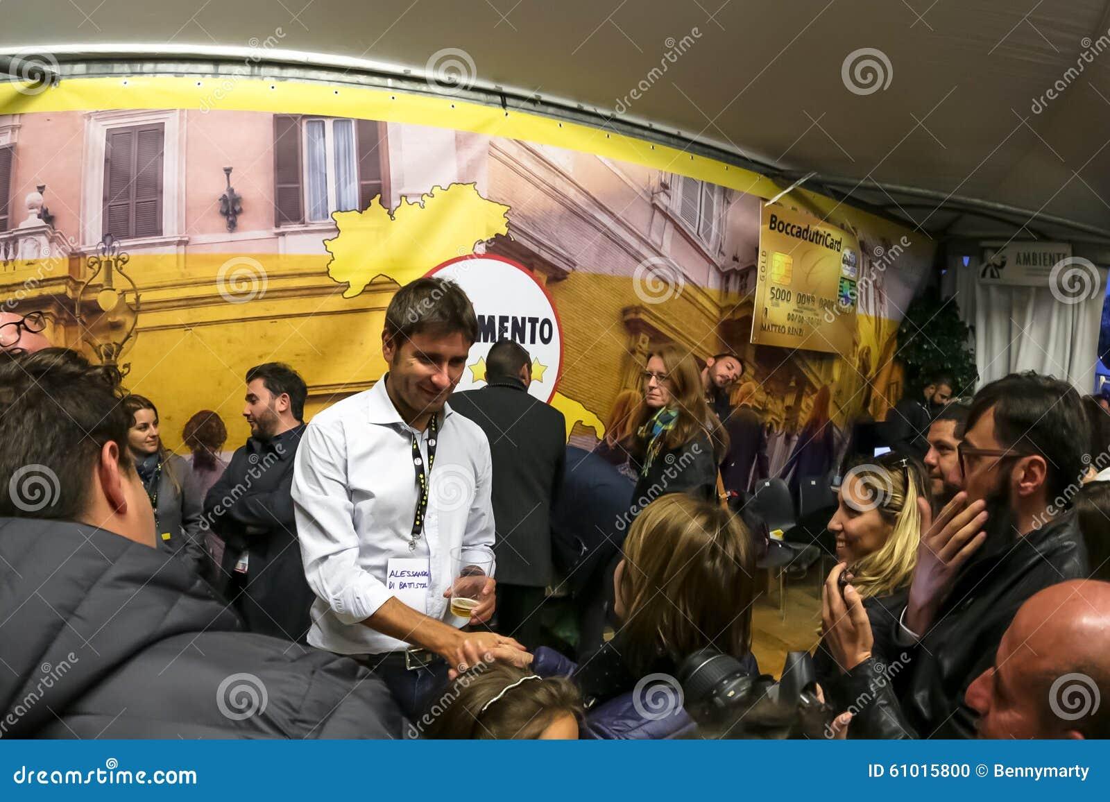 Imola Italy  city photos gallery : Imola, Italy October 17, 2015: Alessandro Di Battista conference ...