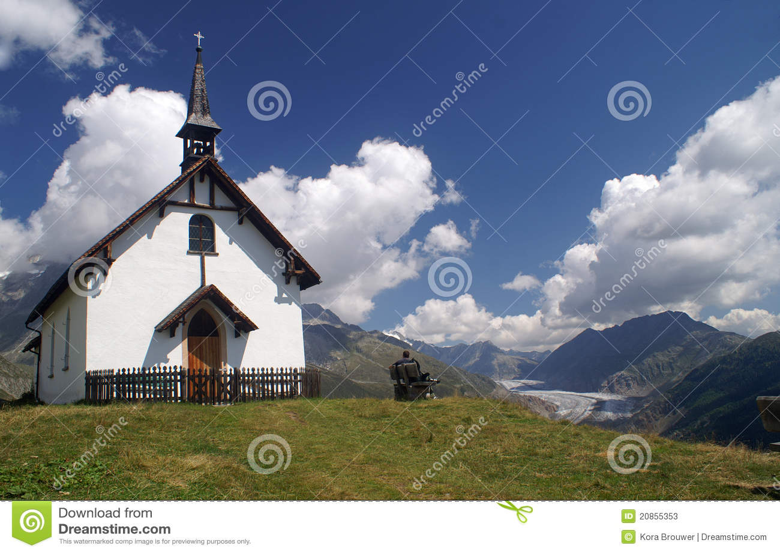 Aletsch kaplicy lodowa góra