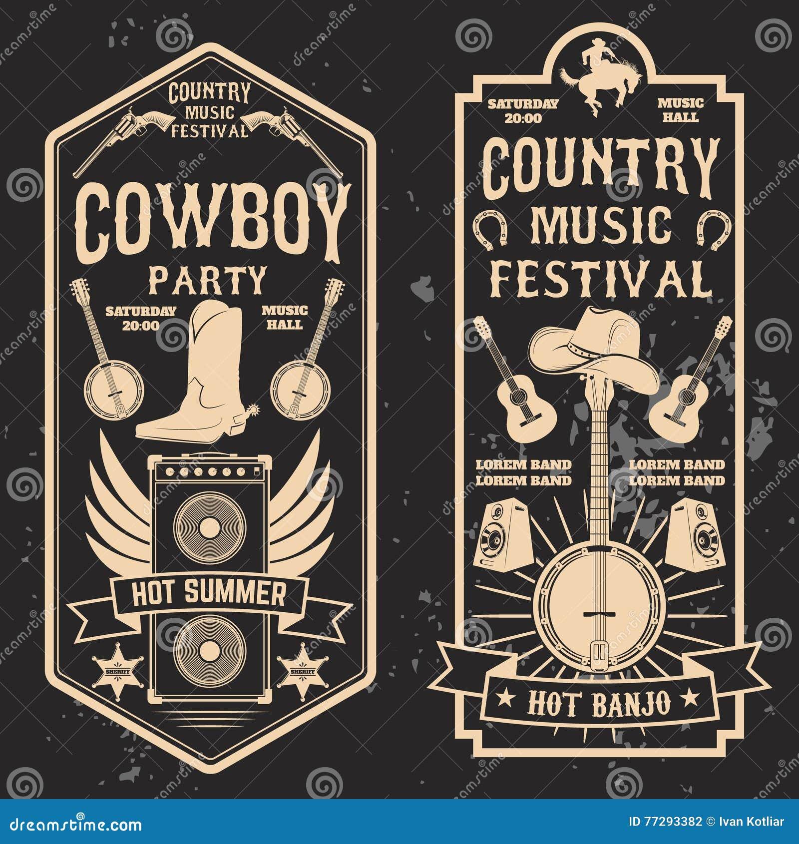 Aletta di filatoio di festival di musica country