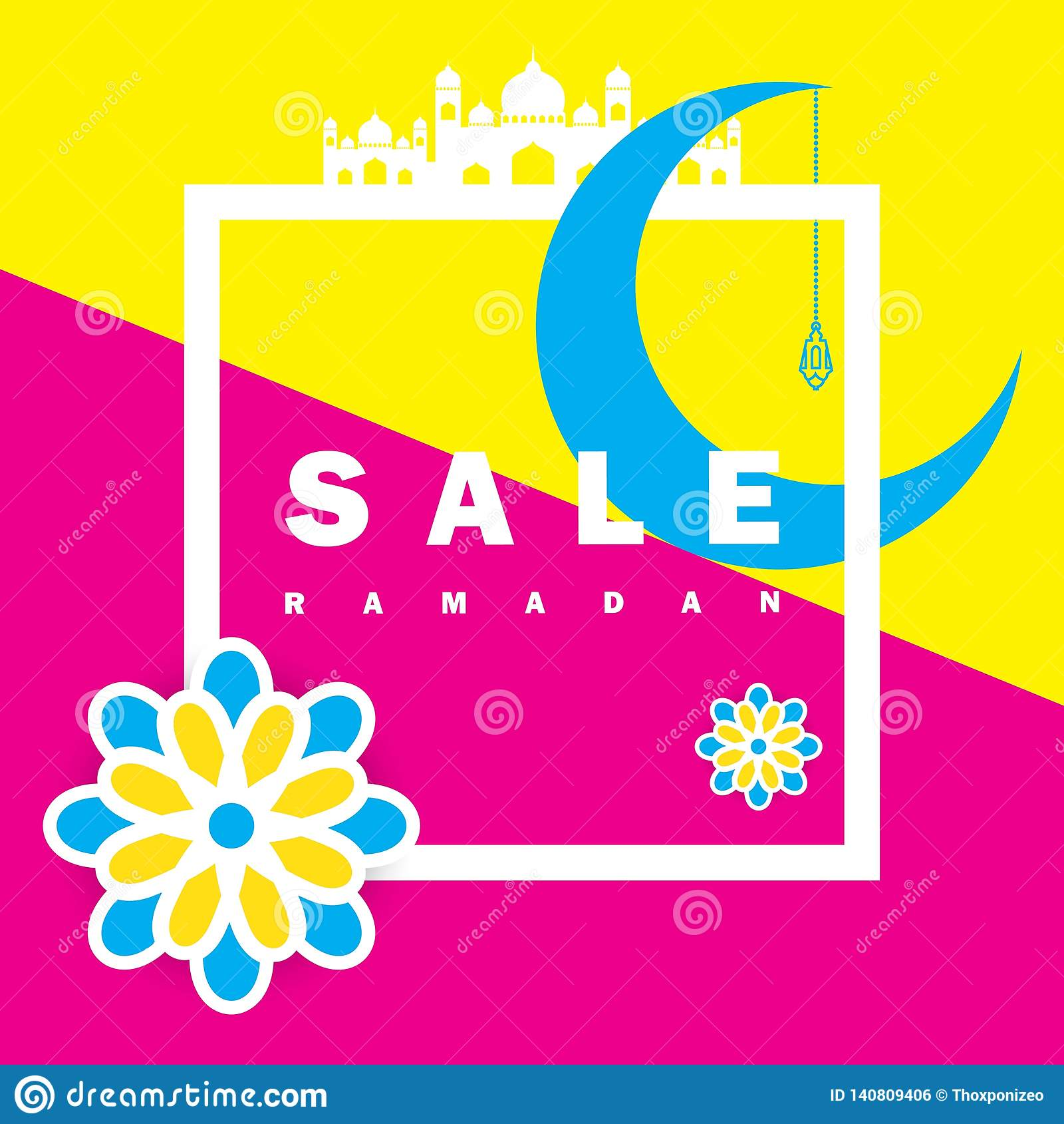 Aletta di filatoio, vendita, sconto, cartolina d auguri, etichetta o occasione dell insegna di Ramadan Kareem e di Eid Mubarak Ce