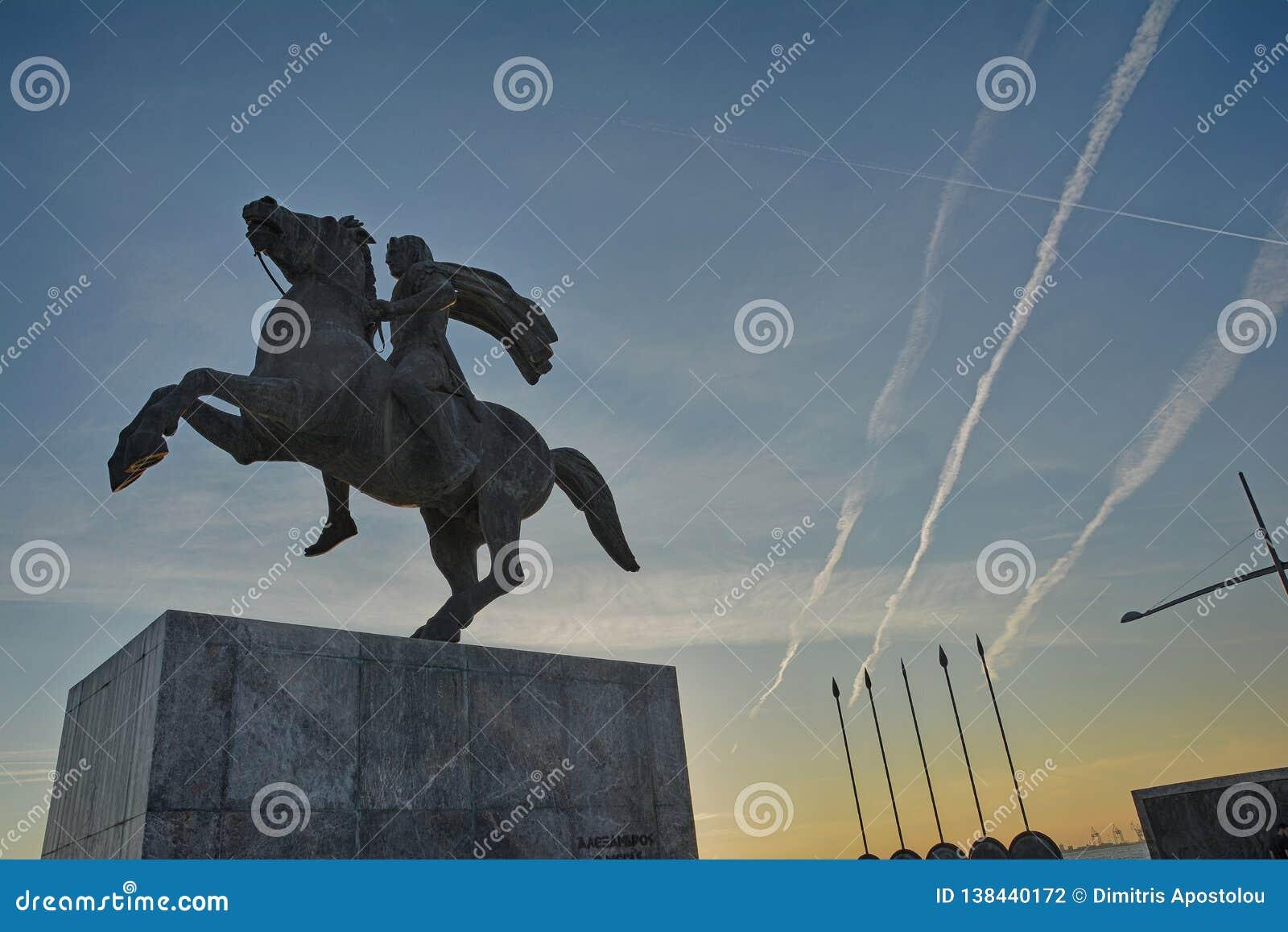 Alexander het Grote Standbeeld Thessaloniki