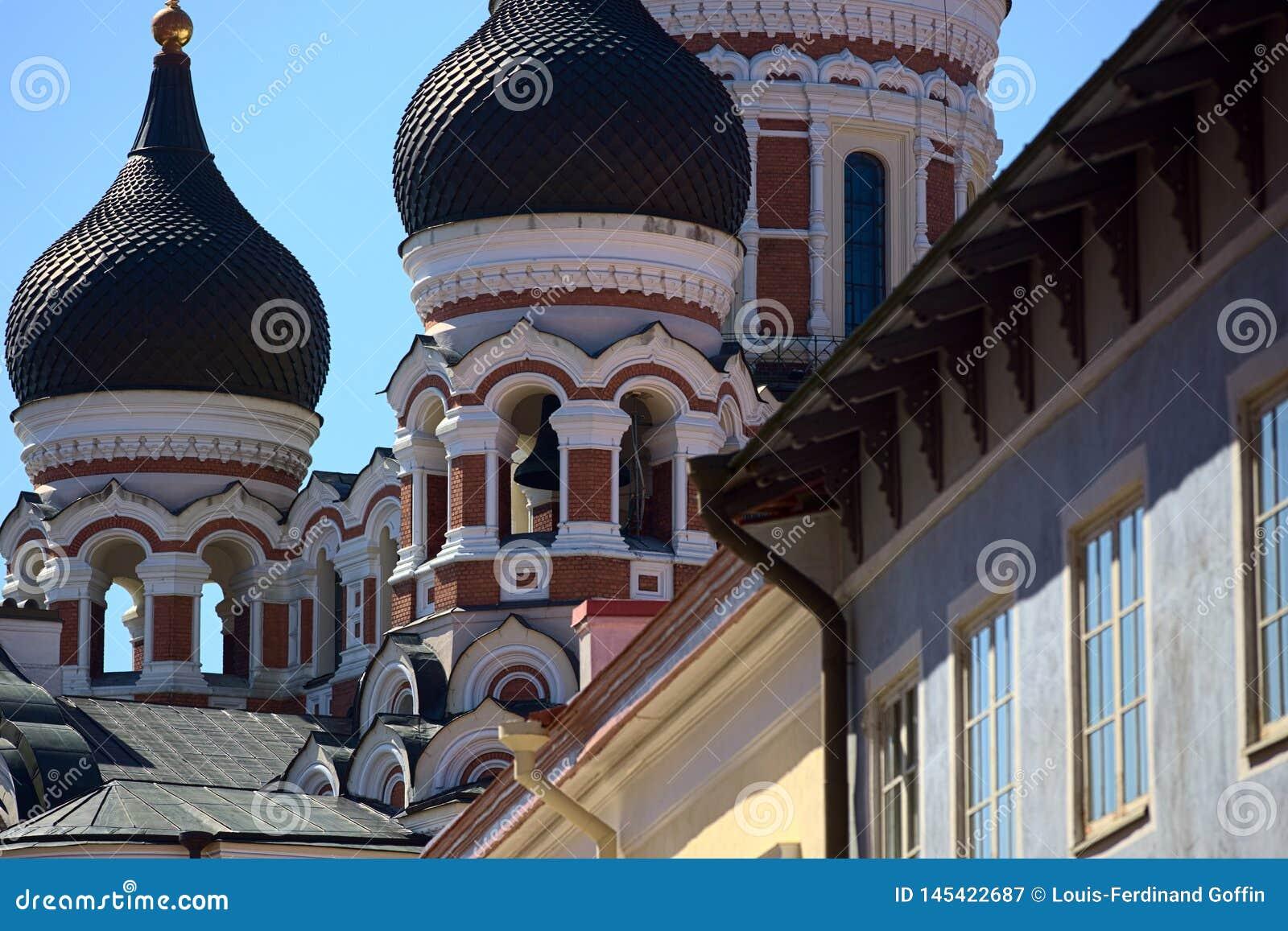 Alexander Nevksy orthodox cathedral in Tallinn, Estonia